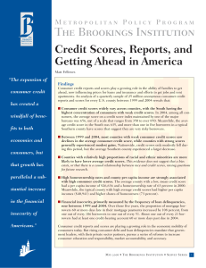 Credit Scores, Reports, and Getting Ahead in