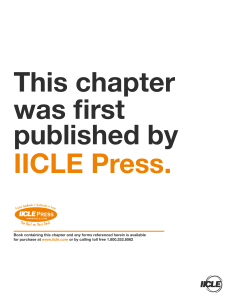 This chapter was first published by IICLE Press.