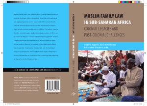 muslim family law in sub-saharan africa - UvA-DARE