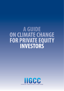 a guide on climate change for private equity investors