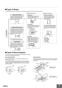 Types of Relays Types of Electromagnets
