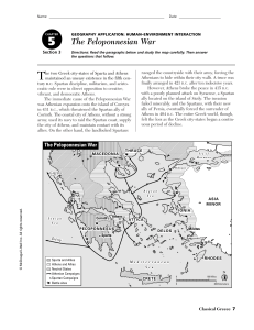 The Peloponnesian War - Northwest ISD Moodle