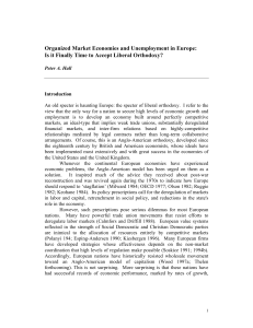 2 Organized Market Economies and Unemployment in Europe: Is it