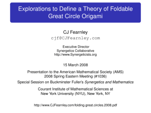 Explorations to Define a Theory of Foldable Great Circle Origami
