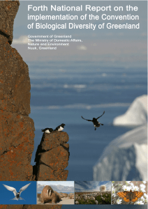 Contribution of Greenland to the Danish Fourth National Report