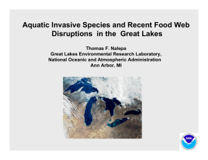 Aquatic Invasive Species and Recent Food Web Disruptions in the