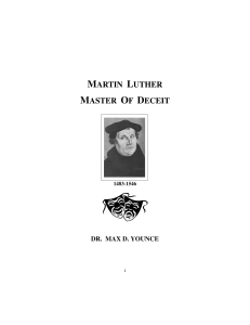 Martin Luther — Master Of Deceit - Jesus-is