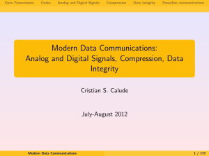 Modern Data Communications: Analog and Digital Signals
