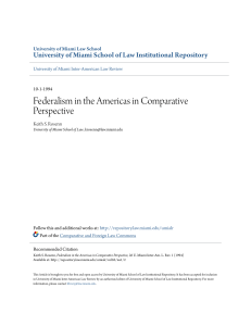 Federalism in the Americas in Comparative Perspective