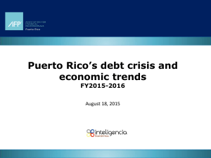 Puerto Rico`s debt crisis and economic trends