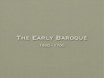 The Early Baroque