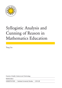 Syllogistic Analysis and Cunning of Reason in