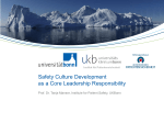 Safety Culture Development as a Core Leadership Responsibility