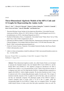 Three-Dimensional Algebraic Models of the tRNA Code and 12