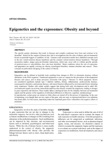 Epigenetics and the exposomes: Obesity and beyond