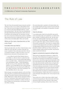 The Rule of Law - The Australian Collaboration