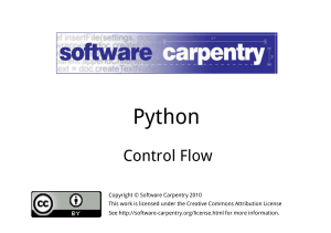 Python - Software Carpentry