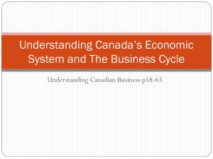 Understanding Canada`s Economic System and The Business Cycle