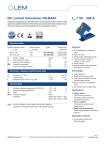 DC current transducer DK