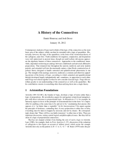 A History of the Connectives