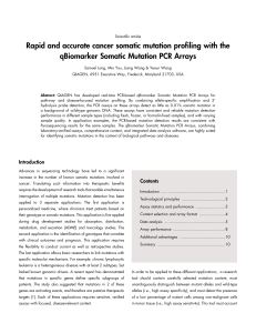 Rapid and accurate cancer somatic mutation