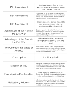 Print › Unit 10: Civil War Concepts | Quizlet