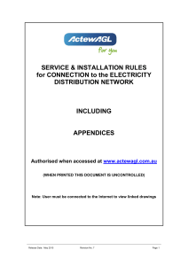 Electricity Service and Installation rules