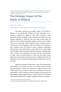 The Strategic Impact of the Battle of Midway