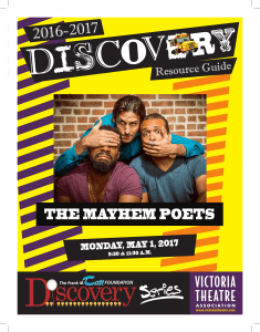 the mayhem poets - Victoria Theatre Association