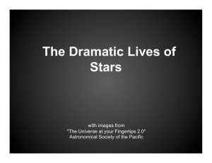The Dramatic Lives of Stars