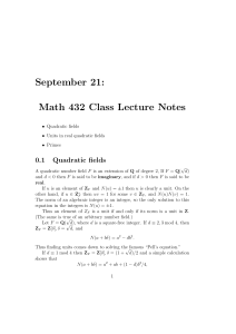September 21: Math 432 Class Lecture Notes