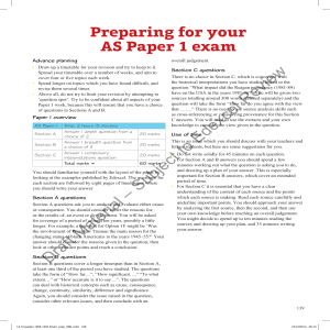 Sample Paper 1 Exam Preparation chapter from Conquest, control