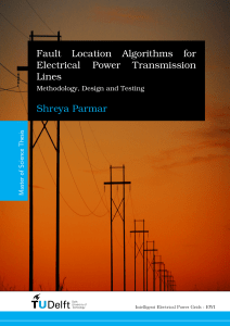 Fault Location Algorithms for Electrical Power Transmission Lines