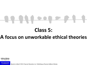 Unworkable Ethical Theories