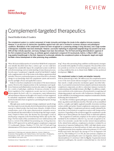 Complement-targeted therapeutics