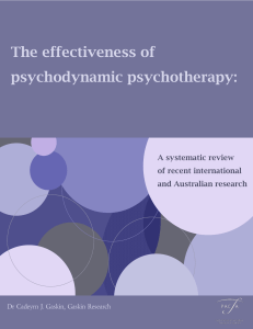 The effectiveness of psychodynamic psychotherapy