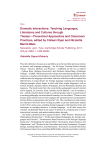 Dramatic Interactions: Teaching Languages, Literatures and
