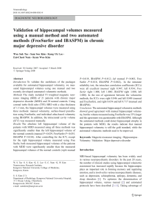Validation of hippocampal volumes measured using a