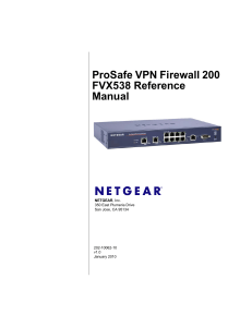 ProSafe VPN Firewall 200 FVX538 Reference Manual
