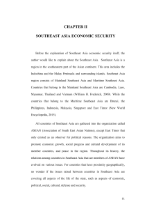 CHAPTER II SOUTHEAST ASIA ECONOMIC SECURITY