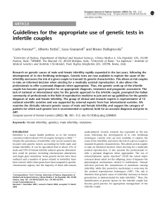 Guidelines for the appropriate use of genetic tests in