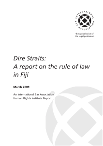Dire Straits: A report on the rule of law in Fiji