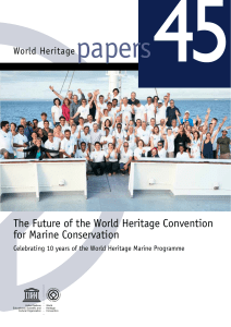 The Future of the World Heritage Convention for marine conservation