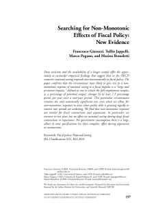 Searching for Non-Monotonic Effects of Fiscal Policy:New