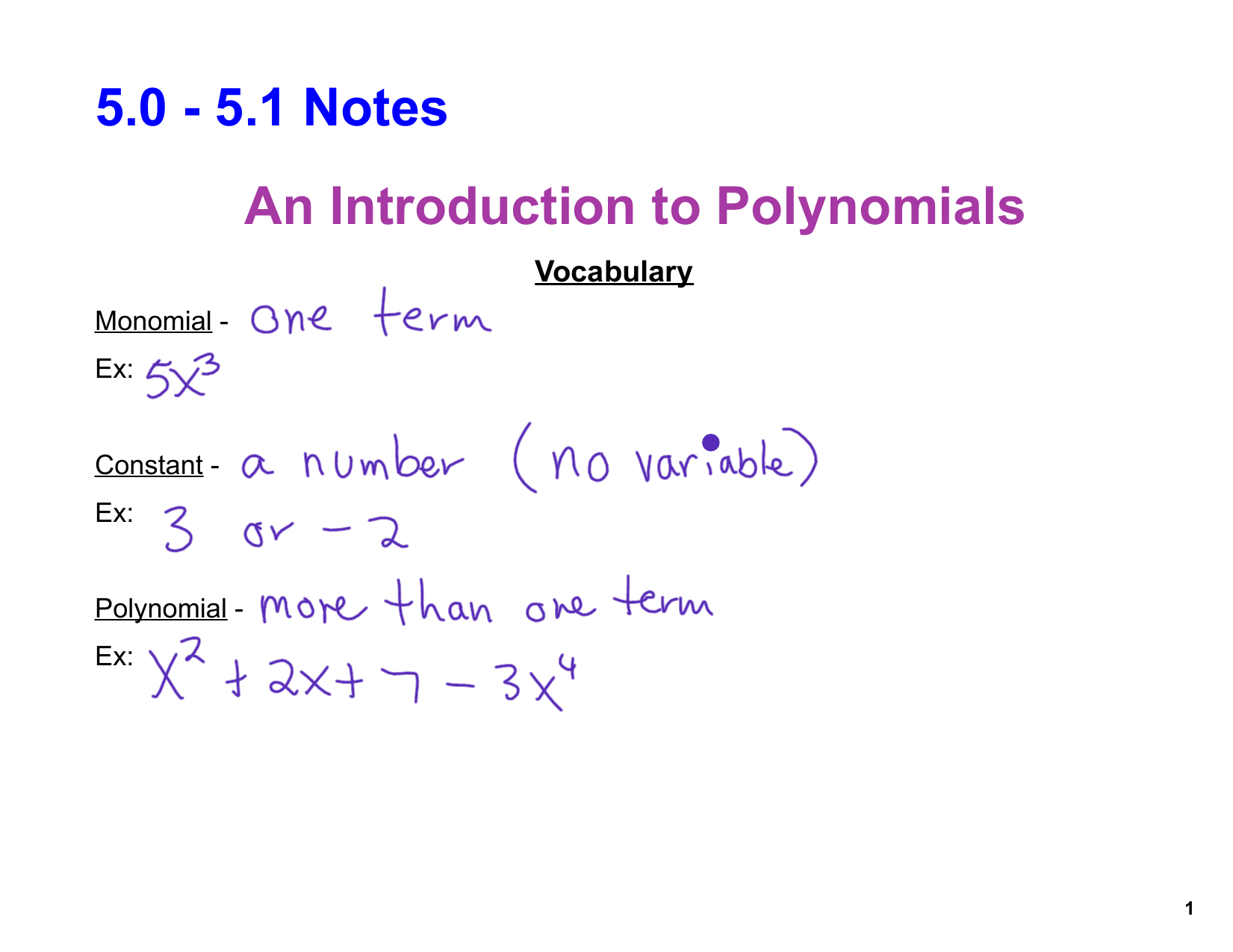50 51 notes an introduction to polynomials falaconquin