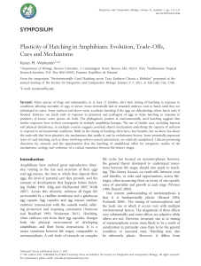 Plasticity of Hatching in Amphibians: Evolution, Trade