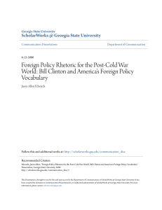 Foreign Policy Rhetoric for the Post-Cold War World