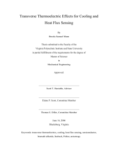 Transverse Thermoelectric Effects for Cooling and Heat Flux Sensing