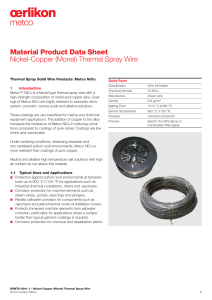 (Monel) Thermal Spray Wire
