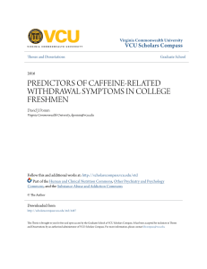 predictors of caffeine-related withdrawal symptoms in college